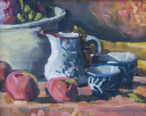 Turnips in a Bowl with Cream Pitcher by Erin Lee Gafill