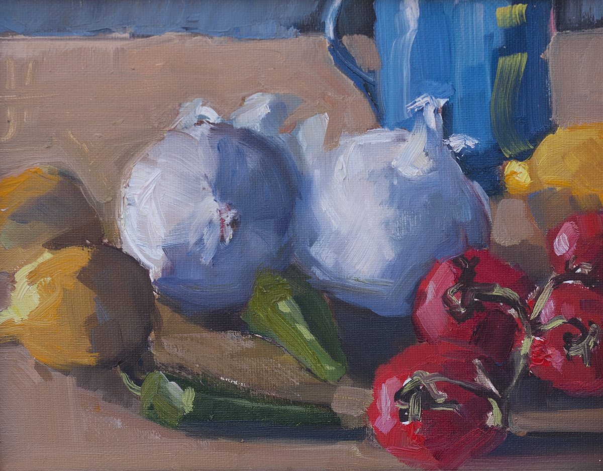 Stilllife with White Onions by Erin Lee Gafill