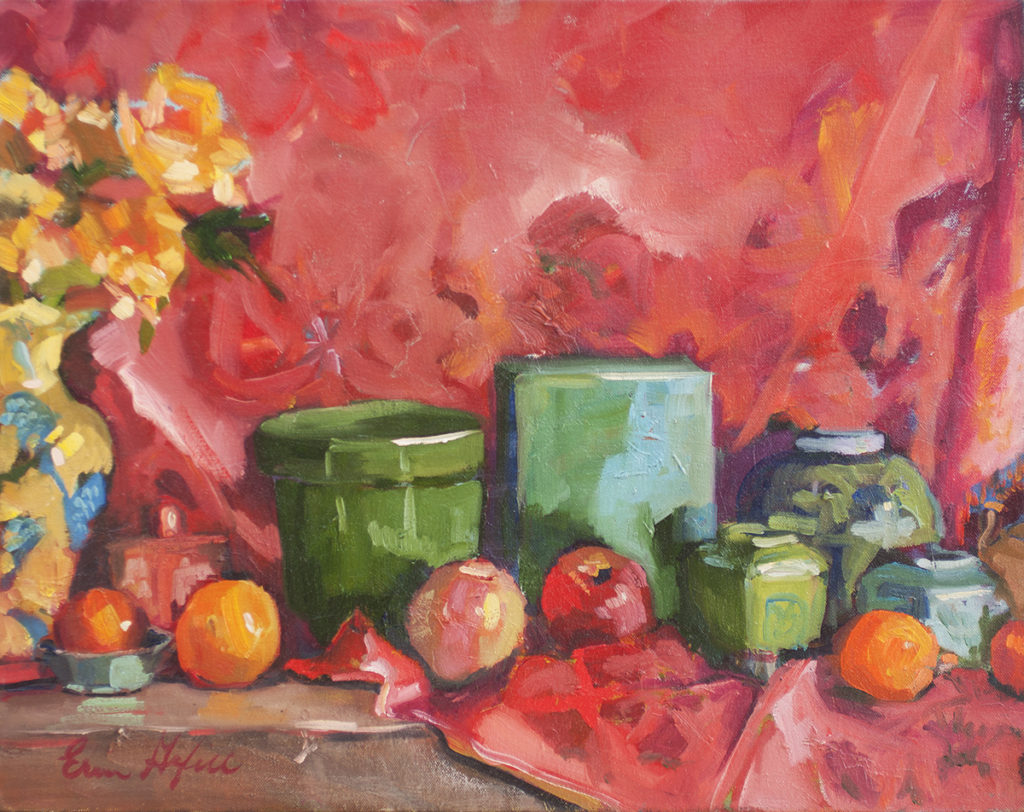 Still Life with Zoe's Scarf by Erin Lee Gafill