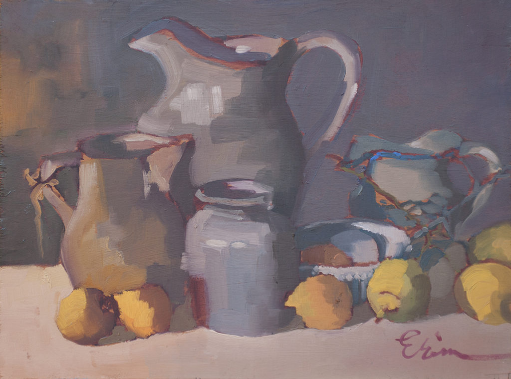 Still Life with Pitcher, Lemons by Erin Lee Gafill