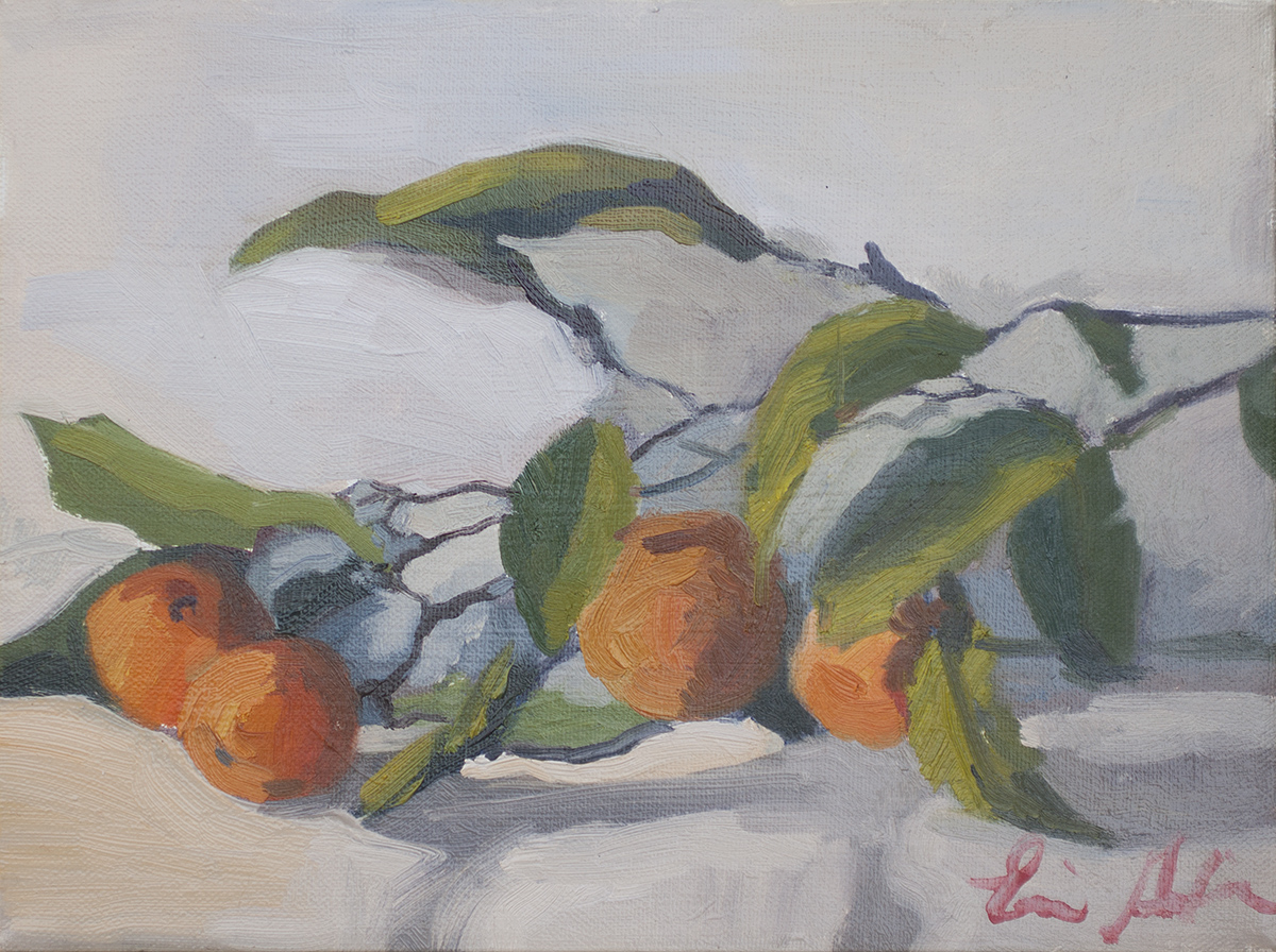 Tangerines on the Branch by Erin Lee Gafill