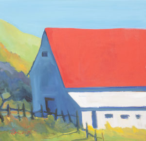 Red, White, and Blue Barn by Erin Lee Gafill