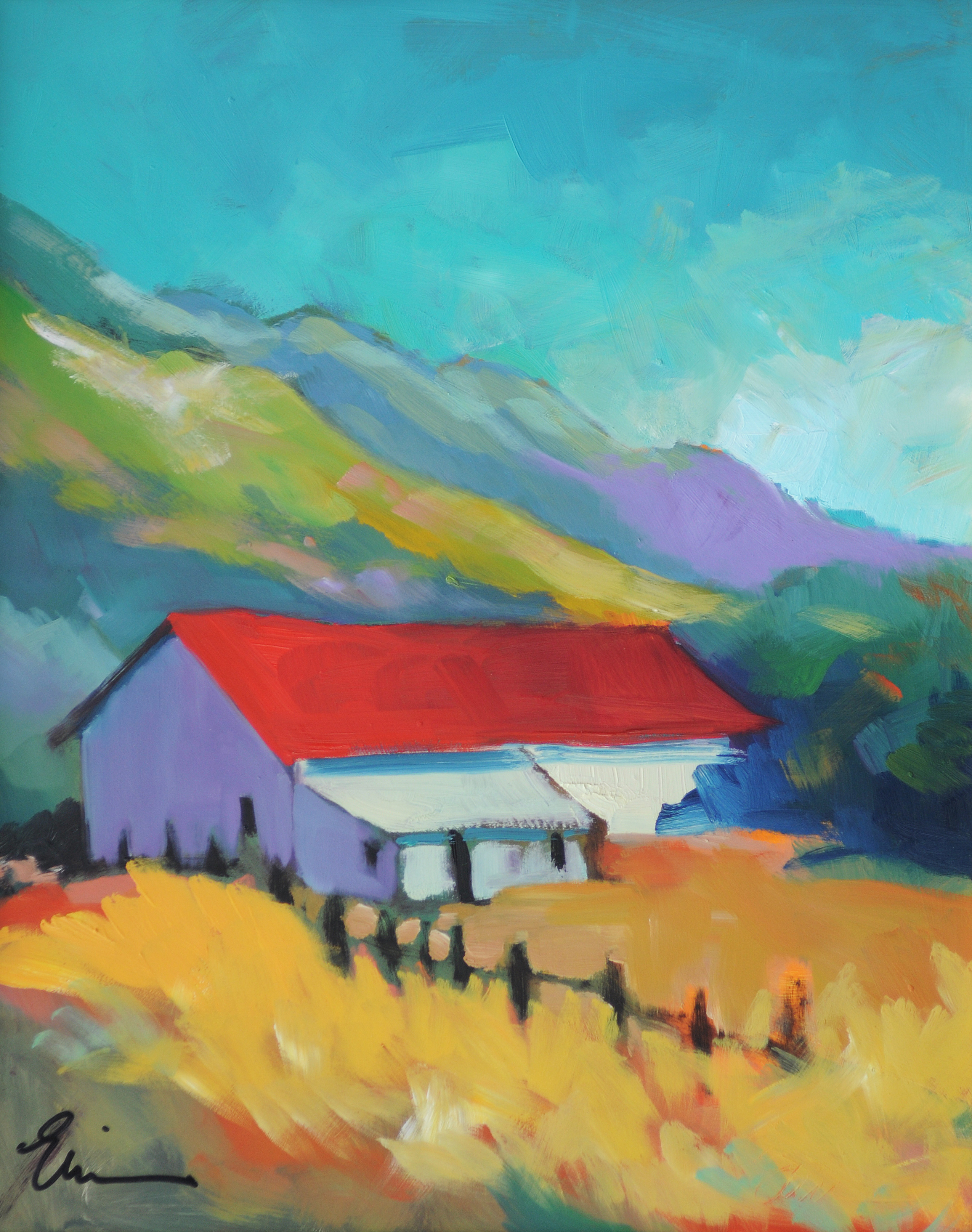 Barn at Molera, Summer by Erin Lee Gafill