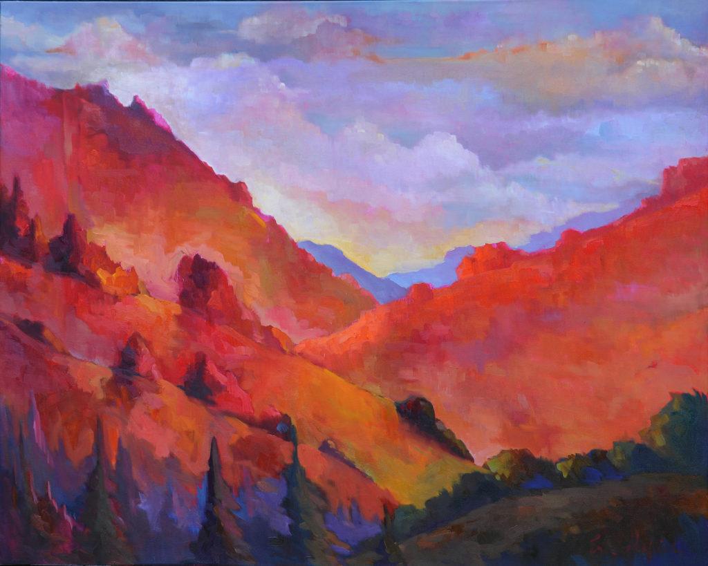 Red Hills, Big Sur by Erin Lee Gafill
