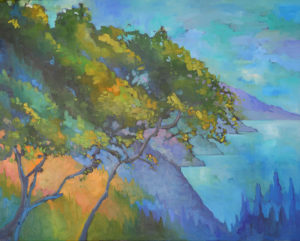Oak Tree at Nepenthe, Summer by Erin Lee Gafill