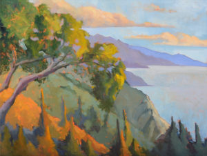 Oak Tree at Nepenthe, Afternoon Light by Erin Lee Gafill