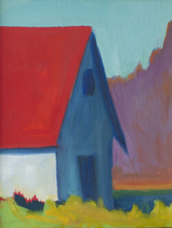 Red Roof, White Wall, Blue Shadow by Erin Lee Gafill