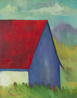 Red Roofed Barn, Big Sur by Erin Lee Gafill