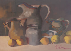 Still Life with Pitchers, Lemons by Erin Lee Gafill