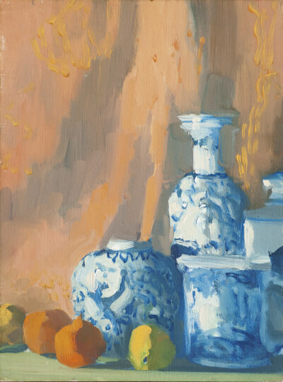 Chinese Pots with Tapestry by Erin Lee Gafill