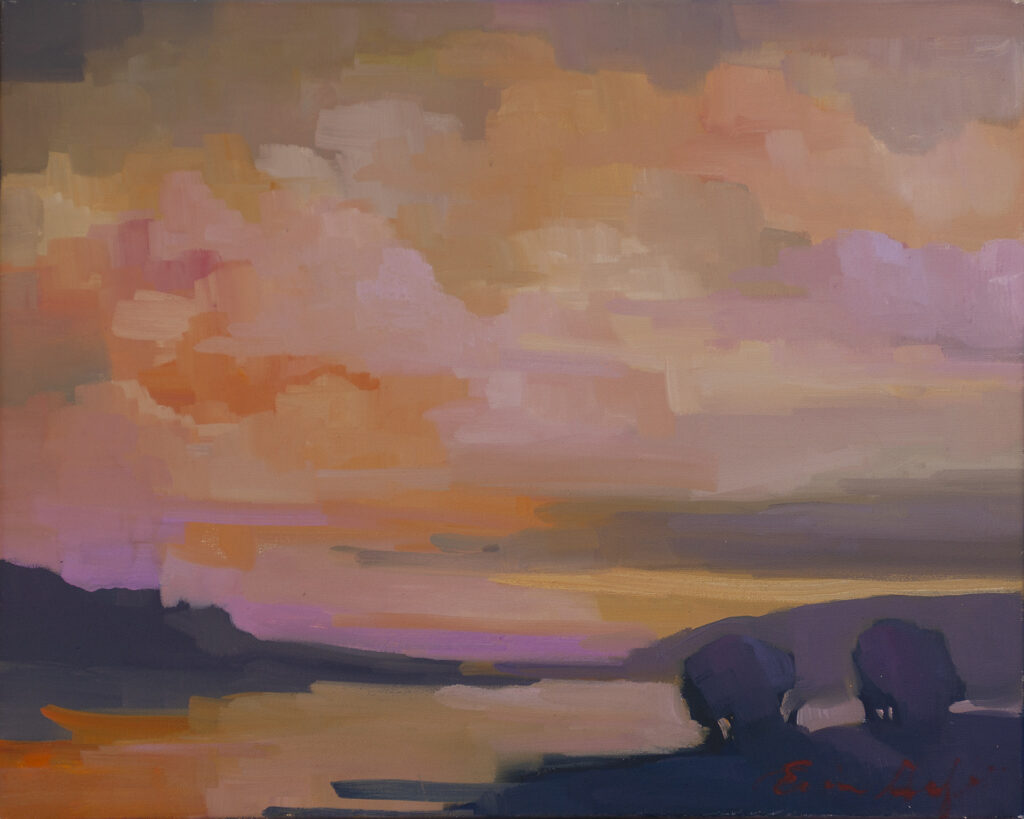 Sunset Over Water by Erin Lee Gafill