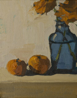 Posy in a Cobalt Jar, Tangerines by Erin Lee Gafill