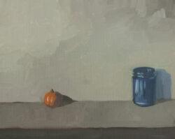 Tangerine and Cobalt Jar, Keeping their Distance II