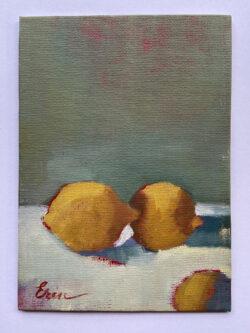 Bright Lemons, Grey Wall by Erin Lee Gafill
