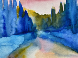 Arriving at Spannocchia by Erin Lee Gafill