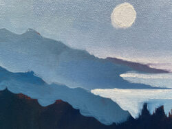 The Full Moon, Big Sur by Erin Lee Gafill